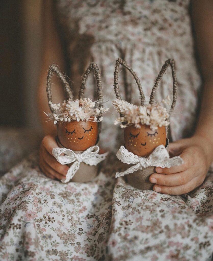 Ideen mit Klopapierrollen zu Ostern