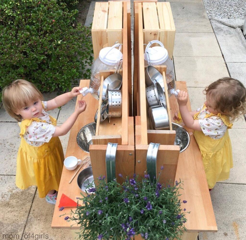 Matschküche für Zwillinge Ideen